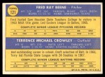 1970 Topps #121   -  Fred Beene / Terry Crowley Orioles Rookies Back Thumbnail