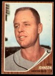 1962 Topps #278  Ken Johnson  Front Thumbnail