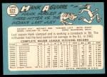 1965 Topps #522  Hank Aguirre  Back Thumbnail