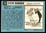 1964 Topps #23  Stew Barber  Back Thumbnail