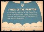 1966 Topps Batman Blue Bat Back #24 BLU  Fangs of the Phantom Back Thumbnail