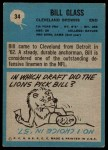 1964 Philadelphia #34  Bill Glass     Back Thumbnail