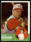 1963 Topps #21 BLU Marty Keough  Front Thumbnail