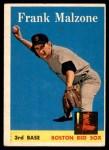 1958 Topps #260  Frank Malzone  Front Thumbnail