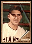 1962 Topps #107  Mike McCormick  Front Thumbnail