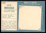 1961 Topps #153  Bob Mischak  Back Thumbnail