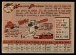 1958 Topps #322  Harding Peterson  Back Thumbnail