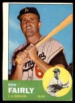 1963 Topps #105 BLU Ron Fairly  Front Thumbnail