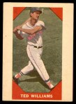 1960 Fleer #72  Ted Williams  Front Thumbnail