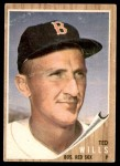 1962 Topps #444  Ted Willis  Front Thumbnail