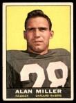 1961 Topps #185  Alan Miller  Front Thumbnail