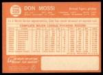 1964 Topps #335  Don Mossi  Back Thumbnail