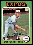 1975 Topps #438  Don Carrithers  Front Thumbnail