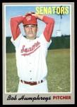 1970 Topps #538  Bob Humphreys  Front Thumbnail