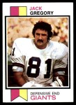 1973 Topps #490  Jack Gregory  Front Thumbnail