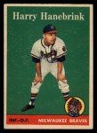 1958 Topps #454  Harry Hanebrink  Front Thumbnail