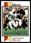 1973 Topps #500  O.J. Simpson  Front Thumbnail