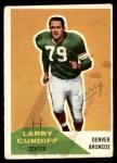 1960 Fleer #95  Larry Cundiff  Front Thumbnail