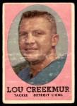 1958 Topps #81  Lou Creekmur  Front Thumbnail