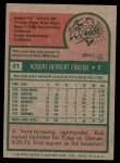 1975 Topps #51  Bob Forsch  Back Thumbnail