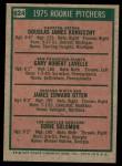 1975 Topps #624   -  Gary Lavelle / Doug Konieczny / Jim Otten / Eddie Solomon Rookie Pitchers   Back Thumbnail