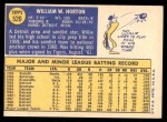 1970 Topps #520  Willie Horton  Back Thumbnail