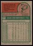 1975 Topps #171  Ed Kirkpatrick  Back Thumbnail