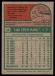 1975 Topps #26  Dave McNally  Back Thumbnail