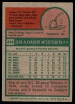 1975 Topps #440  Andy Messersmith  Back Thumbnail