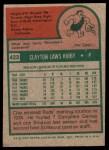 1975 Topps #423  Clay Kirby  Back Thumbnail