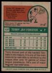 1975 Topps #137  Terry Forster  Back Thumbnail