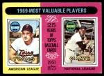 1975 Topps #207   -  Harmon Killebrew / Willie McCovey 1969 MVPs Front Thumbnail