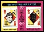 1975 Topps #189   -  Yogi Berra / Roy Campanella 1951 MVPs Front Thumbnail