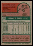 1975 Topps #33  Dusty Baker  Back Thumbnail