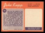 1970 Topps #196  Jake Kupp  Back Thumbnail