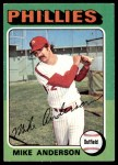 1975 Topps #118  Mike Anderson  Front Thumbnail