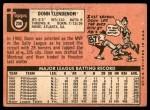 1969 Topps #208 HOU Donn Clendenon  Back Thumbnail
