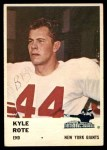 1961 Fleer #69  Kyle Rote  Front Thumbnail
