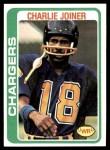 1978 Topps #338  Charlie Joiner  Front Thumbnail