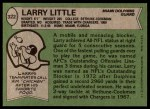 1978 Topps #322  Larry Little  Back Thumbnail