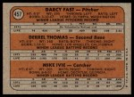 1972 Topps #457   -  Derrel Thomas / Mike Ivie / Darcy Fast Padres Rookies   Back Thumbnail