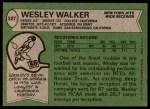 1978 Topps #327  Wesley Walker  Back Thumbnail