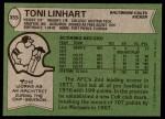 1978 Topps #355  Toni Linhart  Back Thumbnail