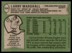 1978 Topps #358  Larry Marshall  Back Thumbnail