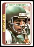 1978 Topps #358  Larry Marshall  Front Thumbnail
