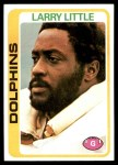1978 Topps #322  Larry Little  Front Thumbnail