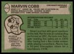 1978 Topps #414  Marvin Cobb  Back Thumbnail