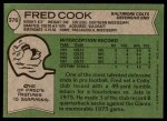1978 Topps #376  Fred Cook  Back Thumbnail