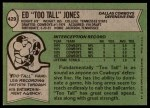 1978 Topps #429  Ed Too Tall Jones  Back Thumbnail