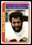 1978 Topps #490  Rolland Lawrence  Front Thumbnail